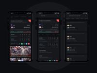 Cricket App  |  Dark Theme