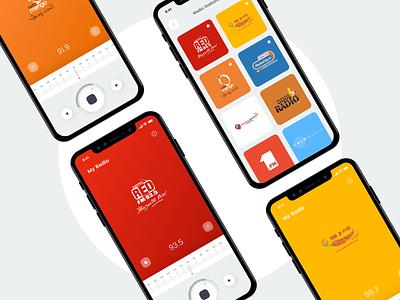 Radio App UI Concept music player audio control music app audio player colors volume control radio colorful ios android app app ux design concept ui