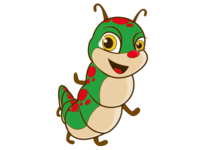 Caterpillar Kids Logo Mascot
