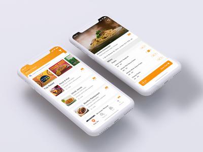 Food & Restaurant Ordering App UI Kit Design