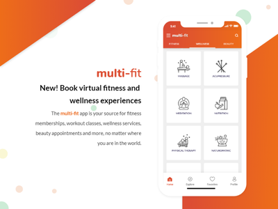 Fitness Classes & Wellness, Beauty Appointments Mobile UI Kit wellness mobile ui kit booking app virtual reality virtual beauty appointments workout classes fitness memberships fitness and wellness ui design