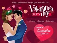 Announcements Employee Invitation on Valentine's day