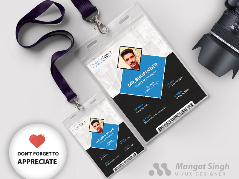Photo Ideny Card Template Office Id Cards Design