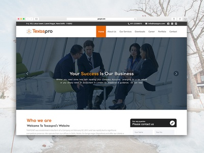 Landing Page Design for Tax Consulting Company