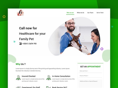 Website Design For Pet Doctors Veterinary Clinics