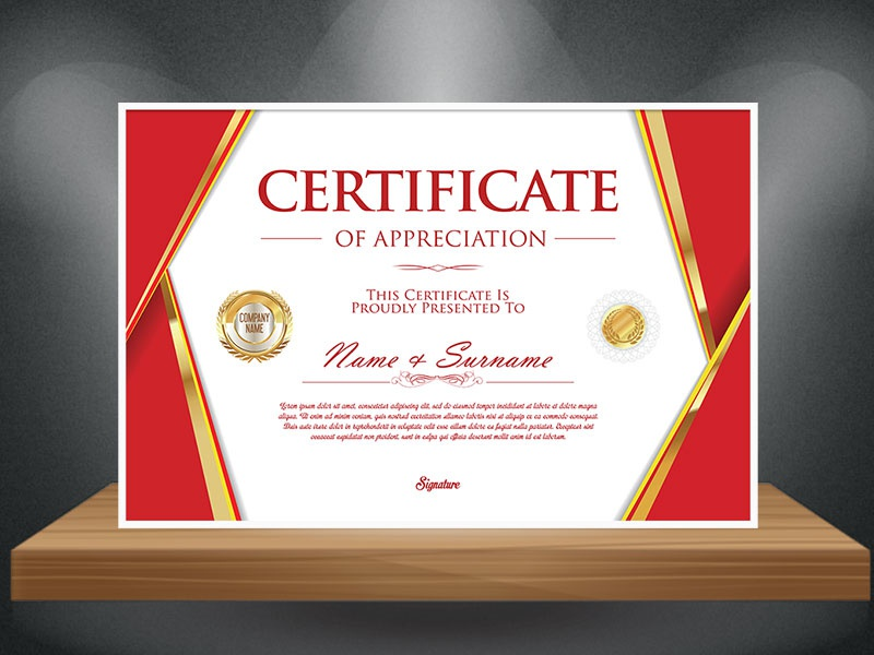 Certificate Mockup Free Template by UI UX Designer Mangat ...