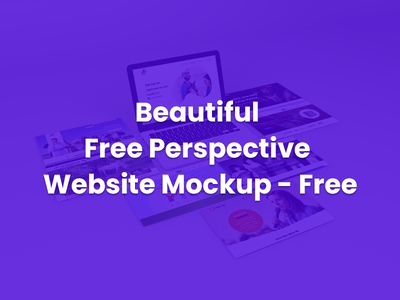 Beautiful Perspective Website Mock up - Free Download