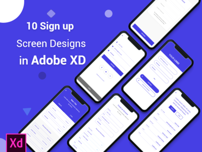 10 Sign up Screen Designs in Adobe XD - Download Free