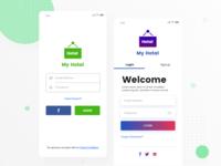 Hotel Booking App Login Screens Free Downloads