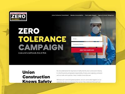 Covid-19 Safety Campaign safety construction campaign covid-19 coronavirus website ui web design