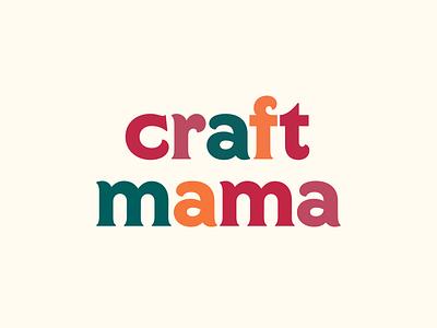 Craft Mama kids art craft branding logo