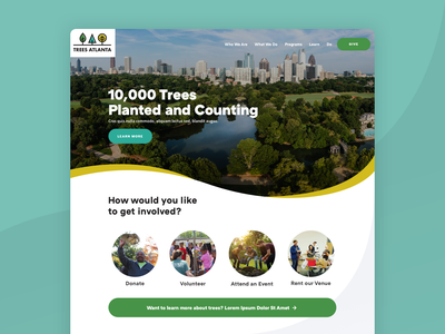 Trees Atlanta Website ui atlanta trees nonprofit branding web design website