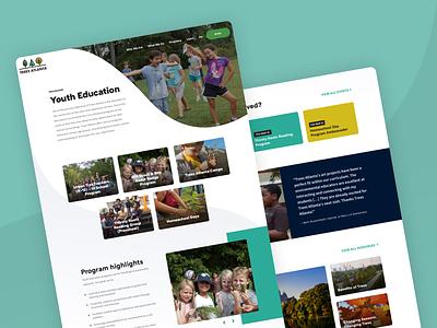 Trees Atlanta Program Page youth program atlanta nonprofit ui website web design