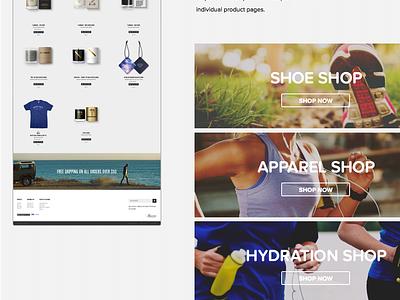Fleet Feet eCommerce Mood Board ecommerce website running store fleet feet web design mood board