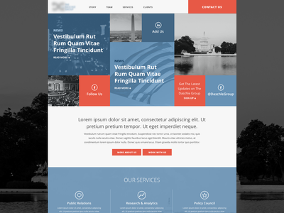 Grid Homepage Feature website homepage grid blocks political consulting business politics web design feature area