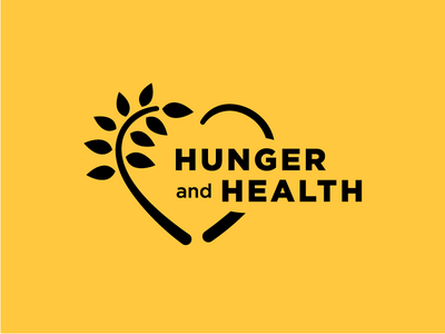 Hunger + Health Logo Option nonprofit healthcare wheat heart initiative hunger health rebrand branding logo
