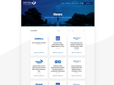 News Page web design politics polling ui website feed blog news