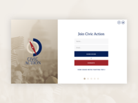 Civic Action Landing Page