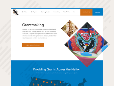 Diamond Banner nonprofit intro shapes banner design layout grid ui website web design