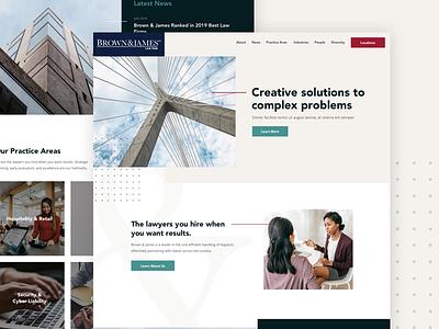 Brown & James Law Firm legal law firm grid ui website web design