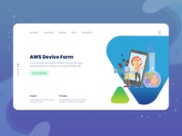 AWS Testing Device Home Page Design