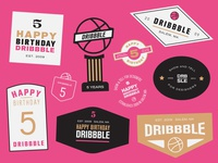 Birthday stickerbadges
