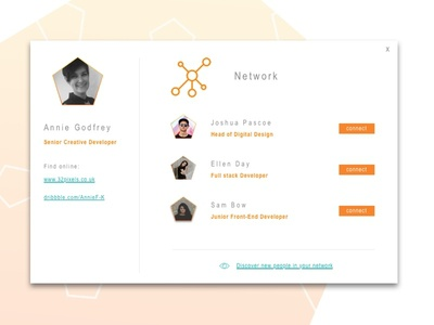 User Profile - DailyUI - 006 network user-profile profile app ui daily 006 dailyui
