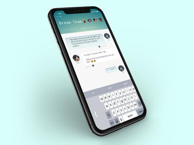 Chat Mockup - DailyUI - 013 x iphone app chat 013 ui daily dailyui