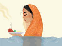 Chath Puja Illustration