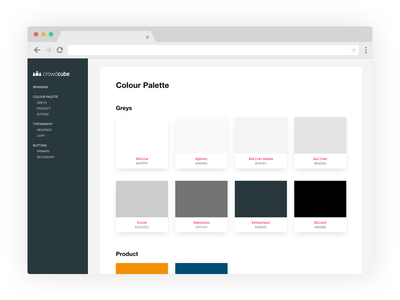 Styleguide palette colour color interface user ui web guide style styleguide