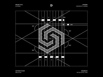 Playmaze - Logo Design / Grid play branding concept graphicdesign logomark modernism branding and identity minimalism modern logo modern clean logo grid logodesign minimal grid symbol logo mark branding monogram