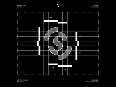 Signalink - Logo Design / Grid idenity branding concept graphic design lettermark modernism branding and identity modern logo modern clean logo grid logo design letter minimal grid symbol logo mark branding