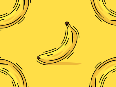Banana Illustration shopping cart fruits icon illustration vector graphics illustrator banana illustration art