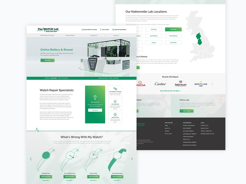 Website Redesign for a Watch Repair Specialist 3d art branding concept 3d illustration website design website web ux ui design
