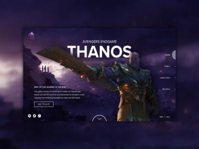 Avengers Endgame - Character Landing Page