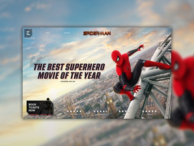 Spider-Man Far From Home Landing Page