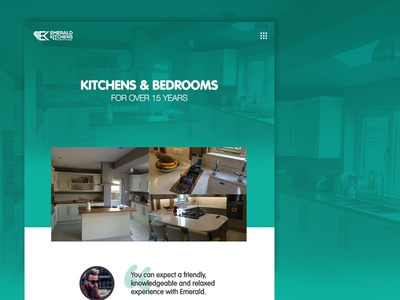 Emerald Kitchens Redesign concept web development web design