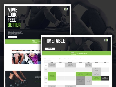 FIT4IT Fitness gym fitness web design website