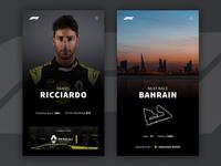 Formula One (Rebound) app design sports formula 1 formula1 design concept app