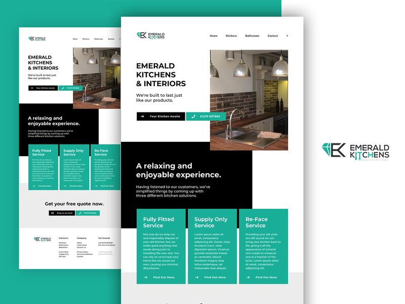 Emerald Kitchens wordpress wordpress design kitchen website design web development web design