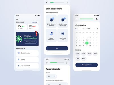 Vaccination management - mobile app concept miquido minimal clean ui medical healthcare health ui ux mobile ui mobile app design design app design app