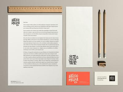 Stationery sample for branding client