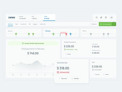 inFakt — taxes management software redesign redesign light ui minimalist web app web bookkeeping invoice finance product design ux ui desktop