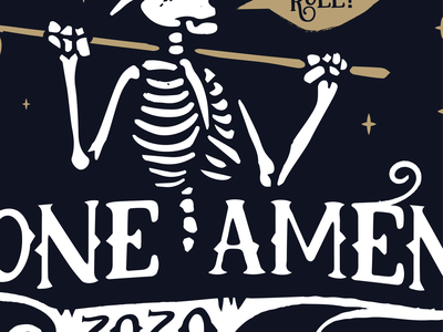 Bone-ament Golf Tourney WIP branding project dribbble fun design follow me logo stars golf club cowboy hat bones skeleton golf tournament