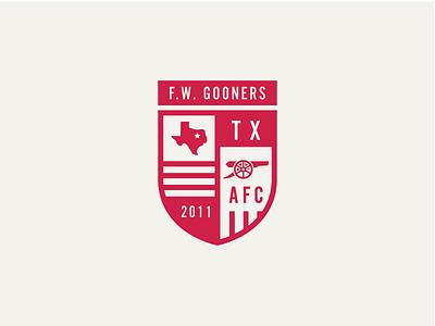 Fort Worth Gooners Badge london emirates football soccer england coyg epl arsenal gunners gooners fort worth