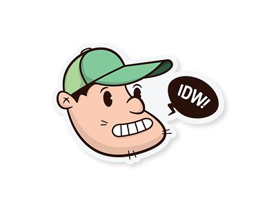 Self-Portrait Sticker stickers follow me cartoon hat me fun self self-portrait sticker