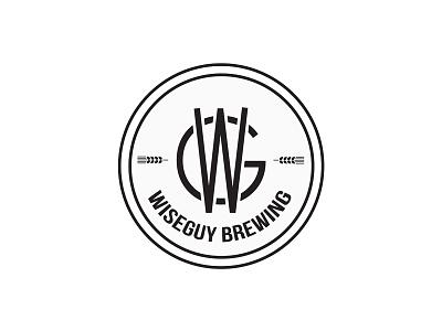 wiseguy brewing. icon graphic  design graphic branding logo clean illustration vector design wheat malt hops homebrew brewing brew beer