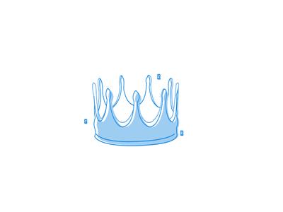 Princess Crown royal queen king illustration. girl animation blue crown princess
