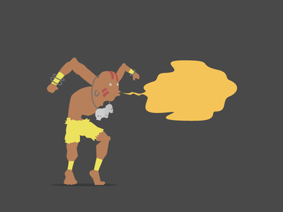 Yoga Flame gif yoga illustration art streetfighter game console animation 2d graphic flatdesign