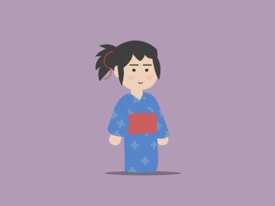 kimi No Na Wa flatdesign graphic animation film anime art illustration gif sketch 2d character